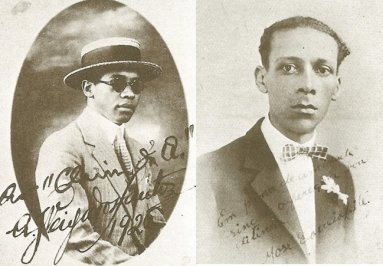 Arlindo Veiga dos Santos and José Correa Leite, two of the founders of the Frente Negra Brasileira