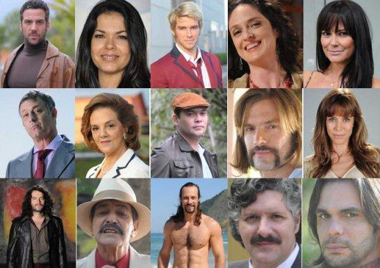 "Actors from Rede Record novela ""Pecado Mortal"""