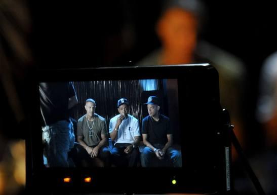"Racionais MCs participate in the recording of ""Go Brazil Go"""