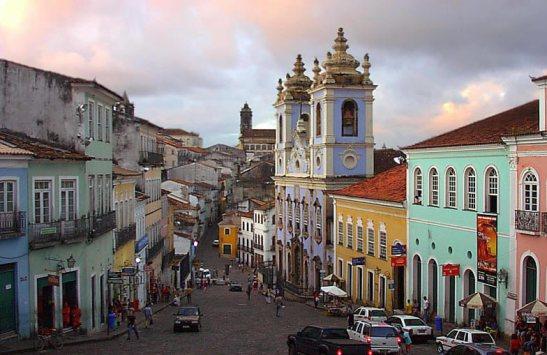 Pelourinho in modern day Salvador, Bahia