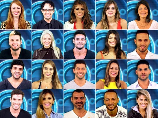 "Participants from the Globo TV program ""Big Brother Brasil 14"""