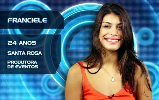 "Franciele Almeida, a participant in Globo TV's ""Big Brother Brasil 14"""
