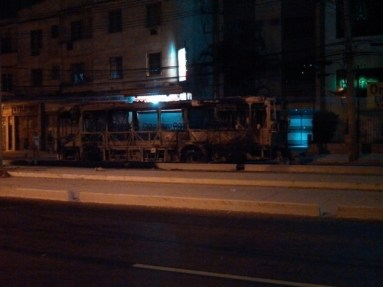 Bus set ablaze during community protest