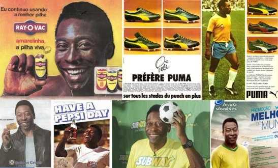 A few of the countless endorsements the King has made over the years. Pelé remains ever popular in TV commercials today
