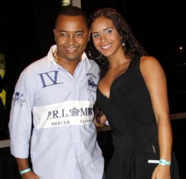 Nobre with current wife Priscila
