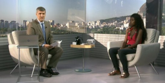 "The victim's daughter appeared on the Globo TV program ""Bom Dia Rio"""