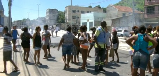 Community protest against police action