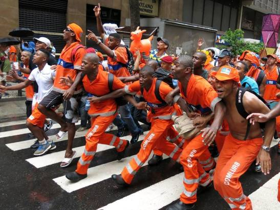 Sanitation workers celebrate victory