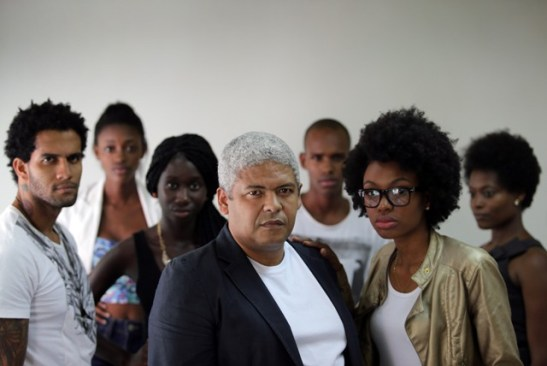 Araújo (center), created an agency that specialized in black models 14 years ago. Today, his book has 200 names