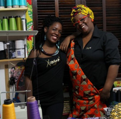 Ana Paula (left) and Cristina invest in African culture