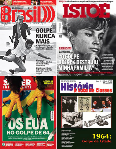 """For several weeks, magazines and newspapers have dedicated covers and issues to 50 years of the coup, the """"golpe de estado"""""""