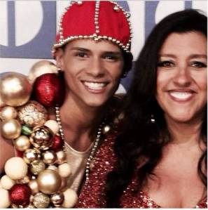 Douglas and Regina Casé, host of the Globo TV program Esquenta that he danced on