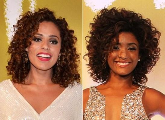 Roberta Almeida and Erika Januza of the Globo TV novela Em família: perfect curls (Photo: Roberto Teixeira and Gabriela Andrade)