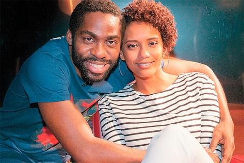 "Actor Lázaro Ramos interviewed his wife Taís Araújo on the television program ""Espelho"" back in March"