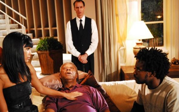 """Taís Araújo, Milton Gonçalves and Fabrício Boliveira in a scene from the 2008 novela, """"A Favorita"""""""