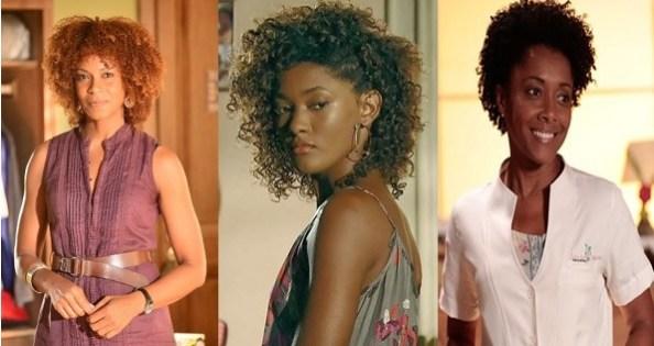 Three actresses from the GloboTV novela 'Em Família'