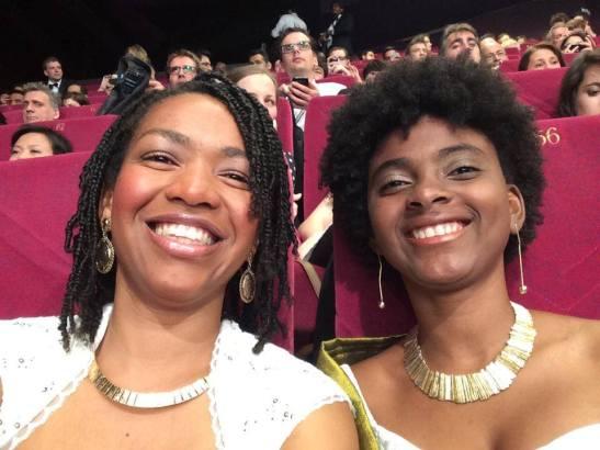 Filmmakers Eliciana Nascimento and Viviane Ferreira in Cannes, France for film festival