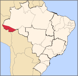 State of Acre in northern Brazil