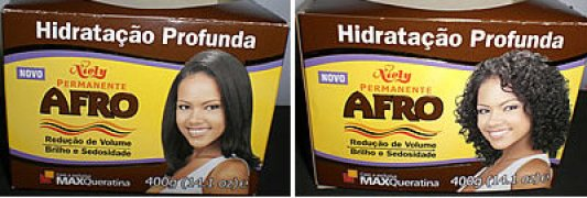 Barreto as the cover girl for the Niely brand of hair products