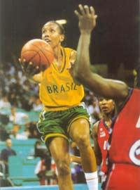 Arcain with Brazil's national team in the Olympics in Atlanta