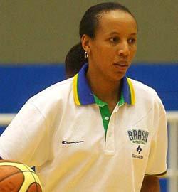 Arcain as coach of Brazil's under-15 women's team