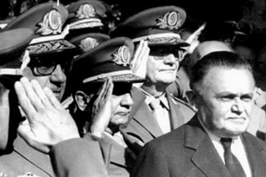 Marechal Castelo Branco was the first president under the military dictatorship (1964-1985). Also pictured are Ernesto Geisel and Arthur da Costa e Silva, both of whom would later serve as presidents under the regime.