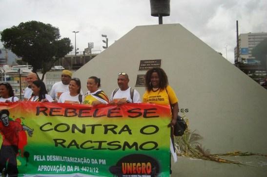 """Rebel against racism"" - UNEGRO in Rio de Janeiro"