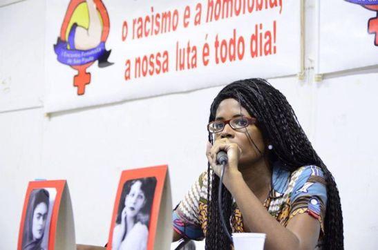 Djamila Ribeiro at the I Encontro Feminista de São Paulo (1st Feminist Meeting of São Paulo)