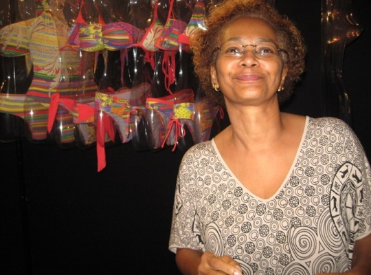 """""""I feel like a storyteller, through our fashion,"""" proclaimed the artist and stylist Goya Lopes, 56, about her work, based in the restoring of Afro-Brazilian culture."""