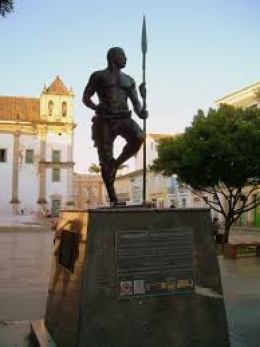 Zumbi statue in Salvador, Bahia