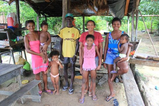 Family of quilombolas in the northern state of Pará