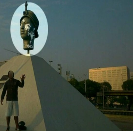 Suspect posted photo of himself after spray painting graffiti on Zumbi of Palmares statue