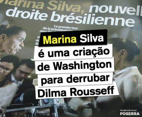 "French publication: ""Marina Silva, the new Brazilian right; Marina Silva is a Washington creation to defeat Dilma Rousseff"""