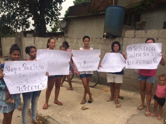 Residents of Parque Paulista request justice and security