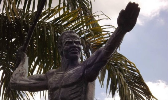 Statue of Zumbi dos Palmares in the city of União dos Palmares, in Alagoas