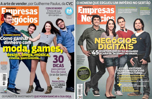 Typical issue of 'Pequenas Empresas & Grandes Negócios' magazine
