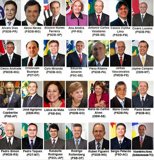A few of Brazil's senators from spring of 2014