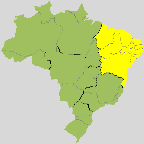 Brazil's northeast which is made up of nine states: Alagoas, Bahia, Ceará, Maranhão, Paraíba, Pernambuco, Piauí, Rio Grande do Norte and Sergipe. More than one-fourth of Brazil's 200 million citizens lives in this region
