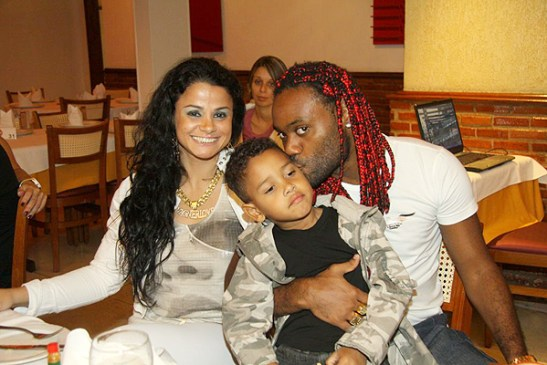 Vagner in happier times with previous wife, model Martha