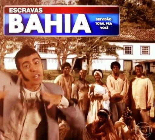Still from recent episode of Globo TV's' Tá no Ar' program