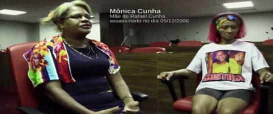 Mônica Cunha, 42, whose son Rafael Cunha was killed on December 5, 2006