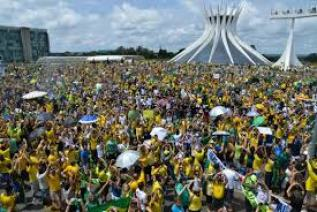 The scene in the capital city of Brasília