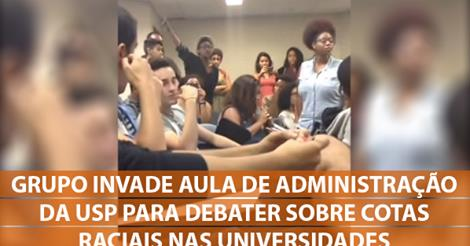 Group invades Administration class at USP to debate racial quotas in universities