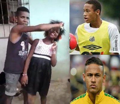 Cabelo de Nati - Neymar - before and after