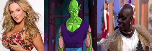 Singer Claudia Leitte, Dragon Ball character Piccolo and the late actor Jorge Lafond in his character Vera Verão