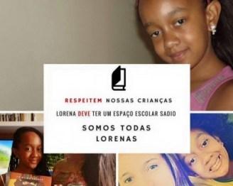 Campaign #SomosTodasLorena (We Are All Lorena) in support of Lorena on Preta e Acadêmica page