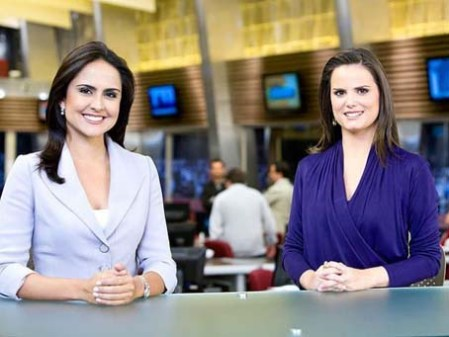 Anchors Carla Cecato and Roberta Piza