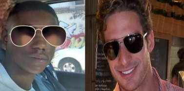 Youth accused of murder (left) and José Phillippe Ribeiro de Castro accused of assault with a corkscrew
