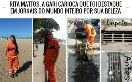 Street sweeper gains fame and followers because of her beauty