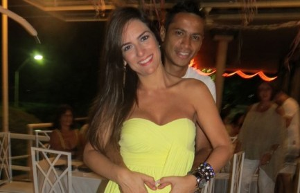 Futebol player Cícero with wife Gisele